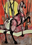 Horse with rising sun, 1989