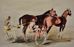 Harness Racing, Arles, France, 1960.